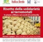 A Milano, risotto e Lambrusco per i terremotati