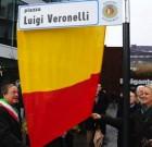 Piazza Luigi Veronelli a Bergamo. La cerimonia